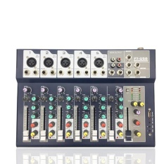 Gracefulvara Mini Professional 7 Channel Live Studio Audio Mixer USB Mixing Console KTV 48V - intl