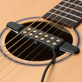Clip-on Acoustic Guitar Pickup Wire Amplifier Speaker Sound 12 Hole - intl