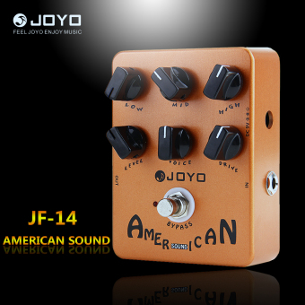 Harga Joyo JF14 American Sound Electric Guitar Amp Simulator Effects Pedal Orange New - intl