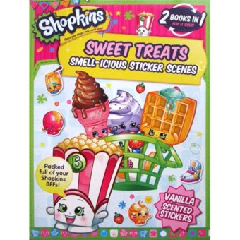 Harga Hellopandabooks - Shopkins Sweet Treats Smell-icious Sticker Scenes Book & Cheeky Chocolate's Smell-icious Sticker Activities Book with scented stickers (2 Books in 1)