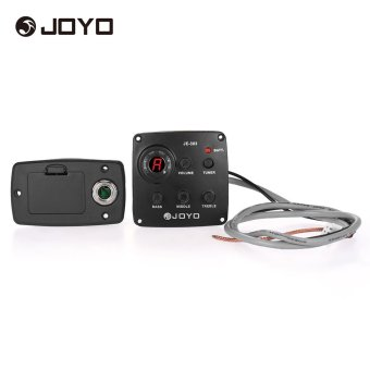 Harga JOYO JE-303 Acoustic 3-Band EQ Equalizer Guitar Piezo Pickup Preamp Tuner System with LCD Display - intl