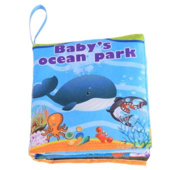 Harga Hang-Qiao Colorful Baby Early Education Cloth Book Ocean Park Learning Picture