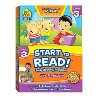 Harga Hellopandabooks - School Zone Start to Read! Level 3 Readers - Early Reading Program (Contents 5 Beginning Reader Books, 1 Comprehension Book, 1 Parent Guide) Age 6-7y
