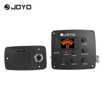 Harga JOYO JE-305 Acoustic Guitar Piezo Pickup Preamp 4-Band EQ Equalizer Tuner System with LCD Display - intl