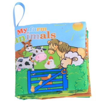 Harga LALANG Baby Educational Early Learning Cloth Book Farm Animals Picture Cognition