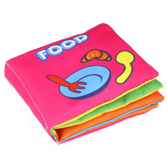 Harga Baby Soft Squeaky Cloth Book (Food)