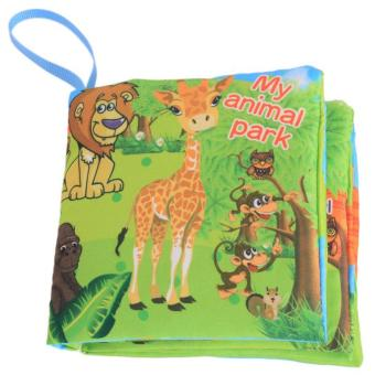 Harga LALANG Baby Educational Early Learning Cloth Book Animal Park Picture Cognition