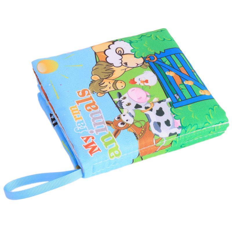 Menggantung Qiao Pendidikan Dini Bayi Kain Warna Warna Warni Buku