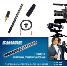 mic condensor kabel shure KSM-999 telescopic profesional interview camcorder conected