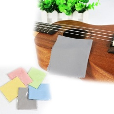 Micro Fibre Cleaning Cloth Musical Instrument Guitar Wipe Cloth Polishing Cloth - intl