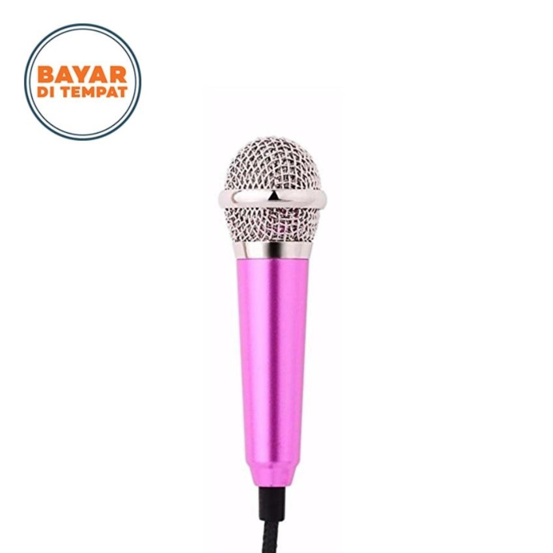 Mini Sing Karaoke Microphone for Android / IOS / PC - Pink .