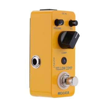 Mooer Yellow Comp Micro Mini Optical Compressor Effect Pedal for Electric Guitar True Bypass Yellow - intl
