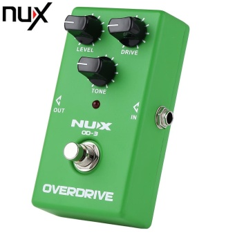 NUX OD - 3 Vintage Overdrive Booster Guitar Effect Pedal True Bypass Design (Green)