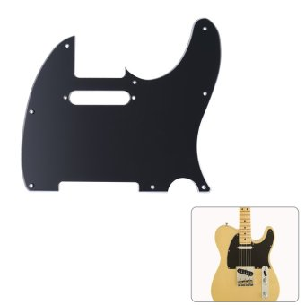 Pickguard Pick Guard 3Ply Construction for Fender Telecaster Standard Modern Style Electric Guitar Black - intl