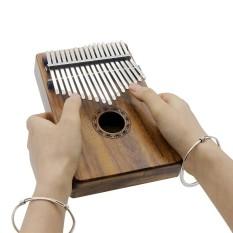 Portable 17 Kunci Kalimba Mbira Pocket Thumb Piano Solid Acacia Alat Musik Hadiah untuk Pecinta Musik Siswa Pemula-Intl