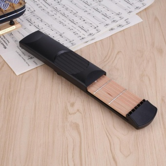Portable Pocket Guitar Practice Training Tool Guitar Trainer 6 String 4 Fret - intl