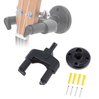 Wall Mount Soft Sponge Guitar Hanger Neck Width 50mm with Non-slipHook Installation Kits for Guitar / Bass / Violin / Mandolin /Ukulele - intl