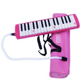 Yamada Pianika Plus Tas & Tiupan Ringan - Pink