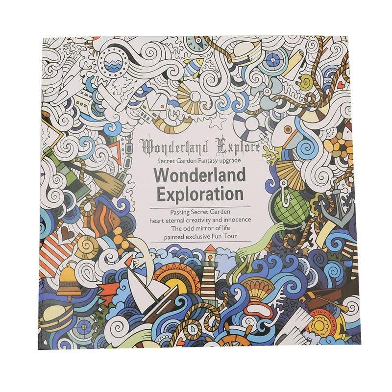 YingWei Secret Garden Wonderland Exploration Coloring Book ChildrenAdult Relieve Stress Kill Time Graffiti Painting Drawing