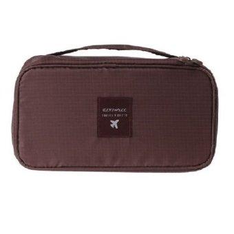 Anekaimportdotcom Travel Bra Organizer Underwear Pouch - Coklat ...