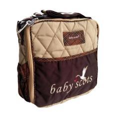 Baby Scots Tas Embroidery Simple Bag ISESB012 Cokelat