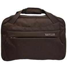 Navy Club Travel bag - Duffle bag - Tas Pakaian Tas Pria Tas Wanita (Tas jinjing Dan Tas Selempang) 2029 - Hitam