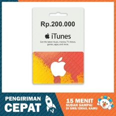 Apple iTunes Gift Card Region Indonesia Rp. 200.000