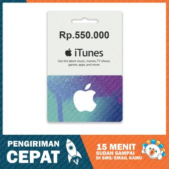 Apple iTunes Gift Card Region Indonesia Rp. 550.000