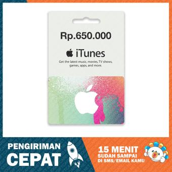 Apple iTunes Gift Card Region Indonesia Rp. 650.000