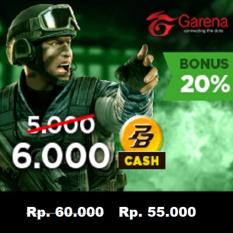 Garena PB Cash 50000 (6000 cash) - Top Up