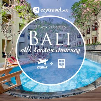 3D2N Bali All Season Journey + Tiket PP Citilink