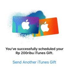 iTunes Gift Card Indonesia Rp. 200.000,- TOKO IGC