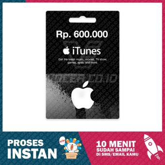 iTunes Gift Card Region Indonesia Rp. 600.000,-