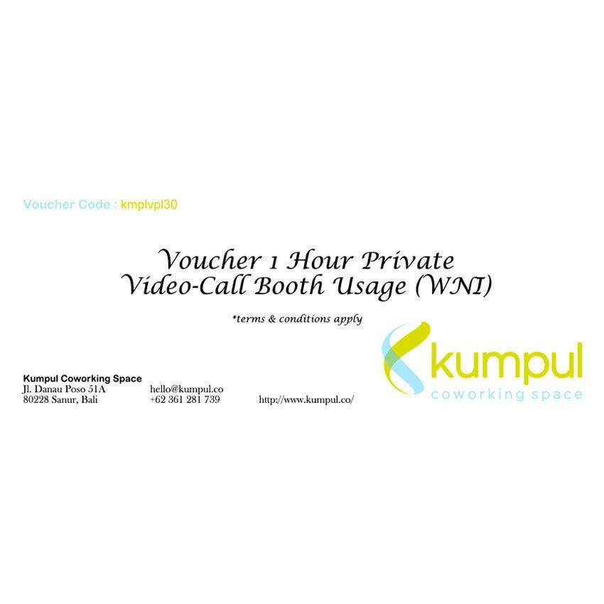 Kumpul Voucher 1 Jam Penggunaan Ruangan Prive-Call Booth WNI