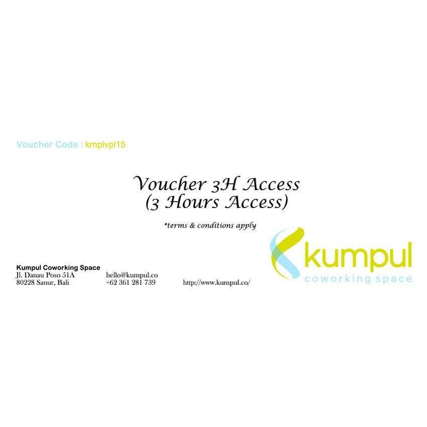 Kumpul Voucher 3H Access - 3 Jam Access – Kumpul Coworking Space - Bali