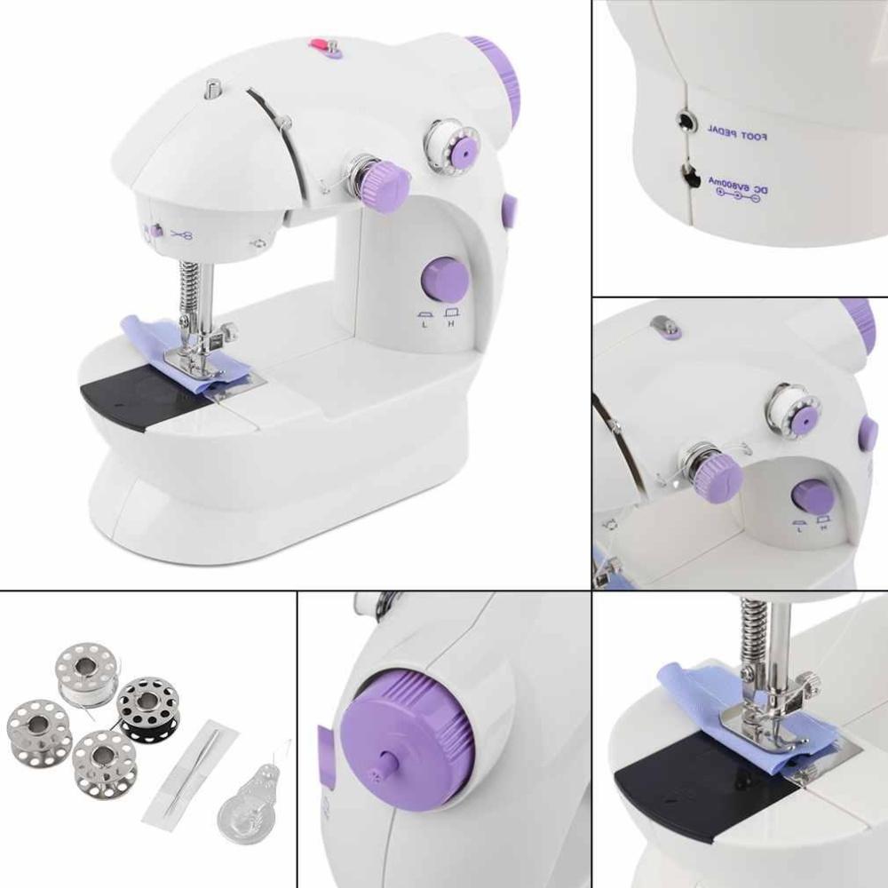 ... 1 Pcs Portable Electric Mini Stitch Sewing Machine Dual SpeedDouble Thread - intl ...