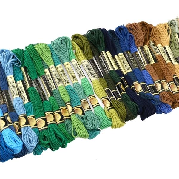 100 buah 8 m warnawarni Cotton Cross Stitch bordir benang-benangjahit .
