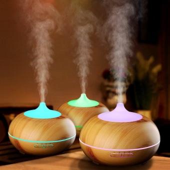 300ml Cool Mist Humidifier Ultrasonic Aroma Essential Oil DiffuserWood Grain - intl
