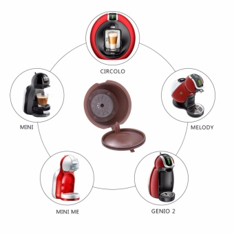 3x refillable reusable coffee capsules filling pod for dolce gustomachine – intl