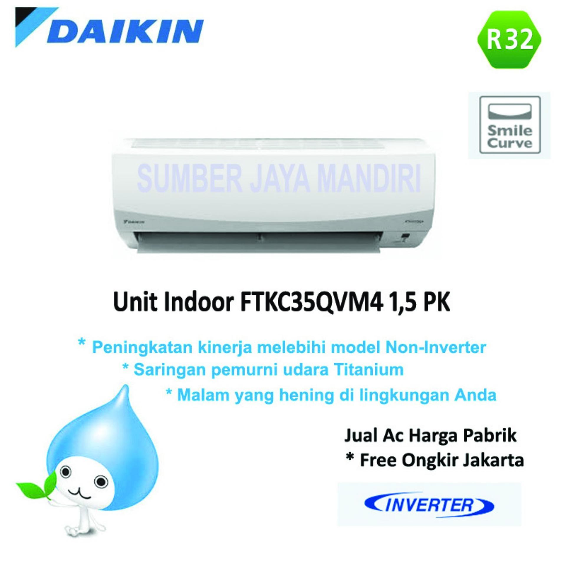 Ac Daikin Split FTKC35QVM4 1,5 PK (INVERTER) - Putih