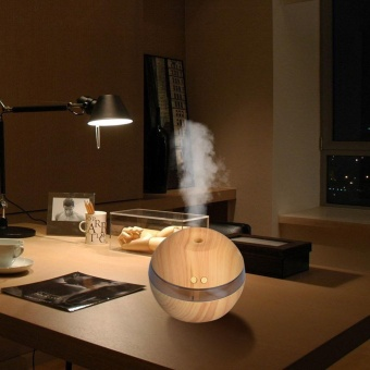 Air Aroma Minyak Esensial Diffuser LED Ultrasonic Aroma Aromaterapi Humidifier-Intl
