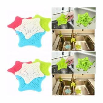 AIUEO Filter Kitchen Bathroom Shower Drain - Saringan Wastafel Kamar Mandi Kotoran Saluran Air Motif Bintang - Random Colour