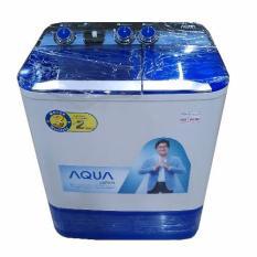 Aqua Mesin Cuci 2 Tabung QW880XT – Biru – Khusus Jadetabek