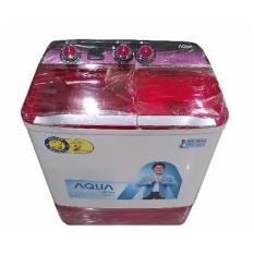 Aqua Mesin Cuci 2 Tabung QW880XT – Pink – Khusus Jadetabek