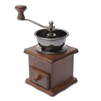 Autoleader kopi kacang bumbu herbal kayu gaya vintage retro duri Mill Penggiling tangan Baru - Internasional