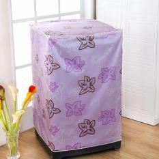 BEST Sarung Cover Mesin Cuci UNGU DAUN Bahan satin tebal Anti Air/ Panas - Tipe