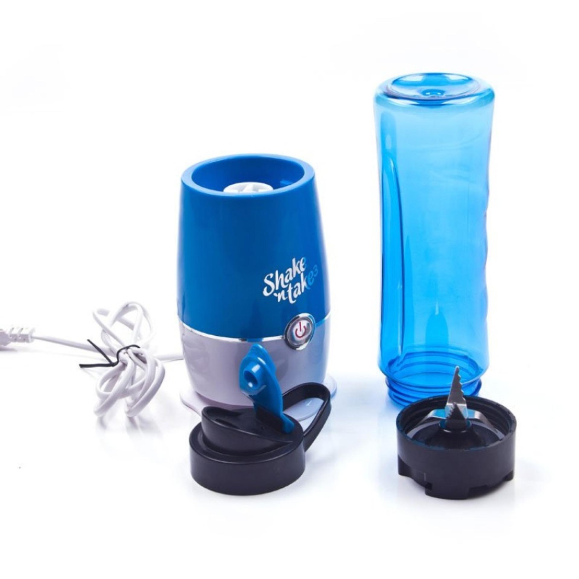Blender Buah Dobule Cup Portable 2 in 1 500ml - Blue