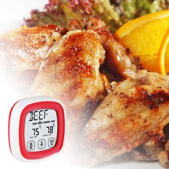 Digital LCD Lemari Es Freezer Lemari Es Termometer Menggantung KaitTahan Air BI553 - 2