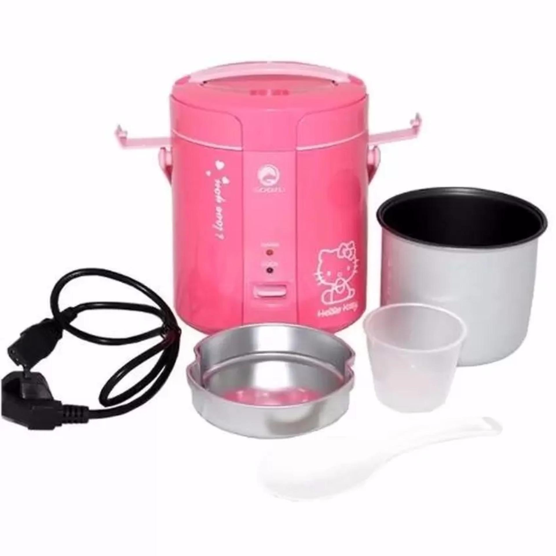 Flash Sale Godzu Rice Cooker Mini Travel GRC168PK - Pink
