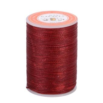 Harga 120M 0.55mm Leather Sewing Waxed Thread Cord (Dark Red) - intl